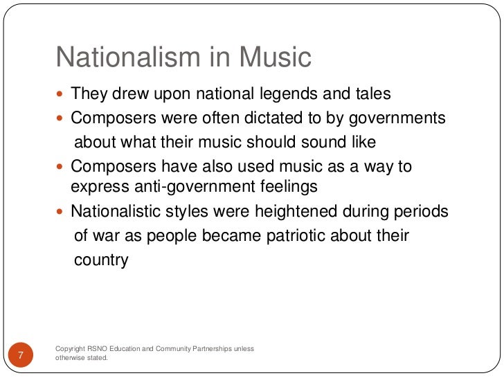 nationalism in music essay