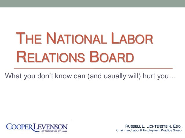 capital and labor relationship board