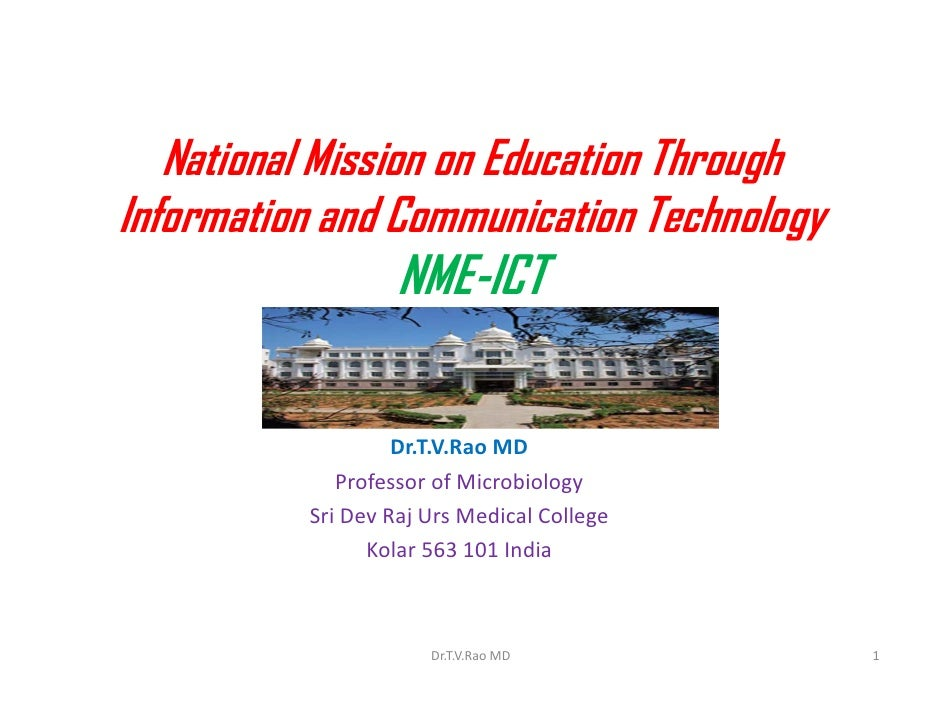 National mission on education through information and communication
