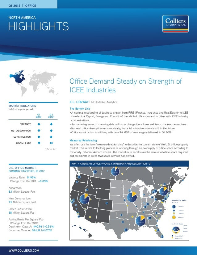 Q1 2012   OFFICENORTH AMERICAHIGHLIGHTS                                               Office Demand Steady on Strength of ...