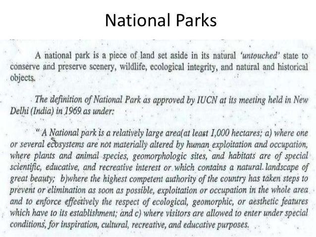 National park BY Muhammad Fahad Ansari  12IEEM14