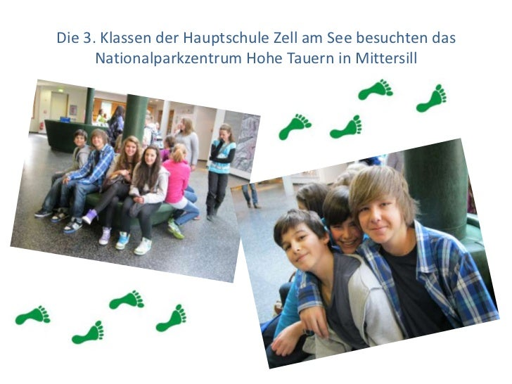 Die 3. Klassen der Hauptschule Zell am See besuchten das Nationalparkzentrum Hohe Tauern in Mittersill<br />