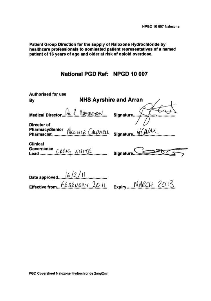 National Pgd Aand A 10 007 Naloxone Hydrochloride