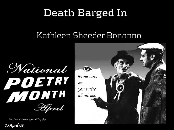 Death Barged In                              Kathleen Sheeder Bonanno                                          From now   ...