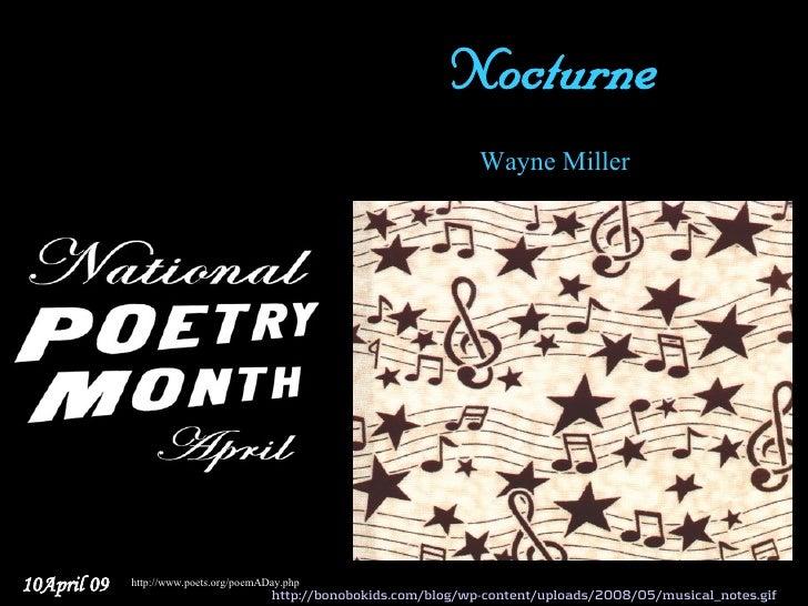 Nocturne                                                                      Wayne Miller     10April 09   http://www.poe...