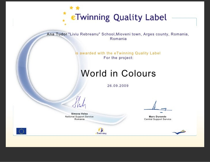 National Quality Label - World In Colours