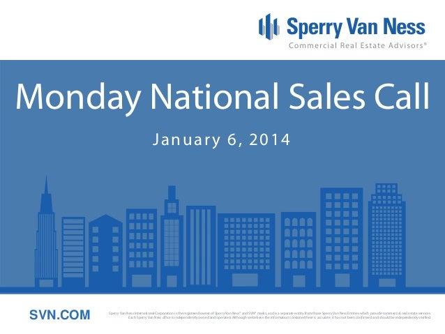 Sperry Van Ness #CRE National Sales Meeting 1-6-14