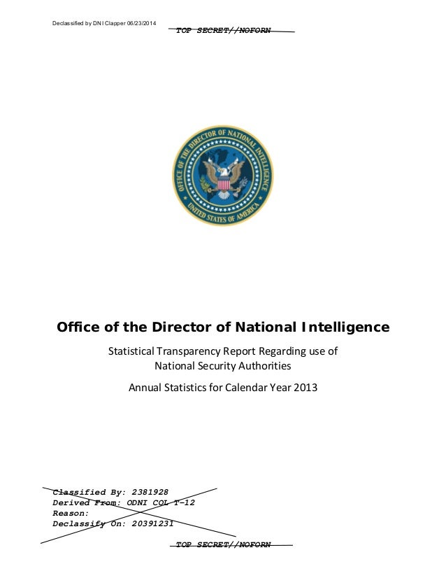 TOP SECRET//NOFORN Classified By: 2381928 Derived From: ODNI COL T-12 Reason: Declassify On: 20391231 TOP SECRET//NOFORN O...