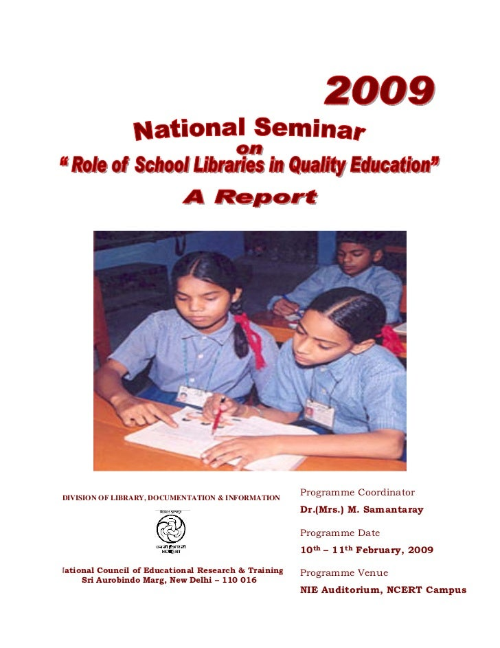 National seminar on role of school libraries