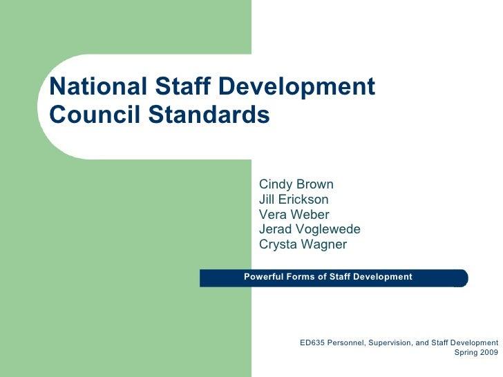 National Staff Development Council Standards
