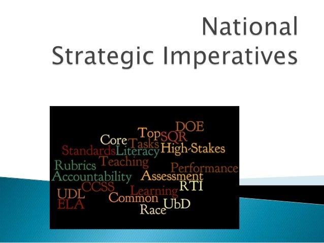 National strategic imperatives