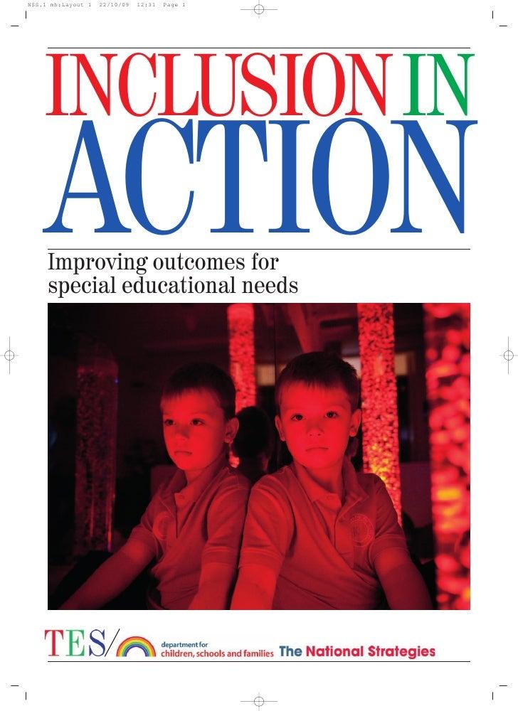 TES National Strategies SEN Supplement 6 Nov 09
