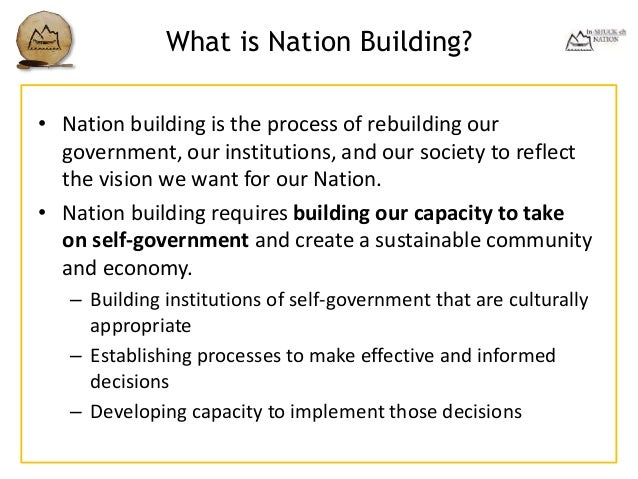 What is nation building?