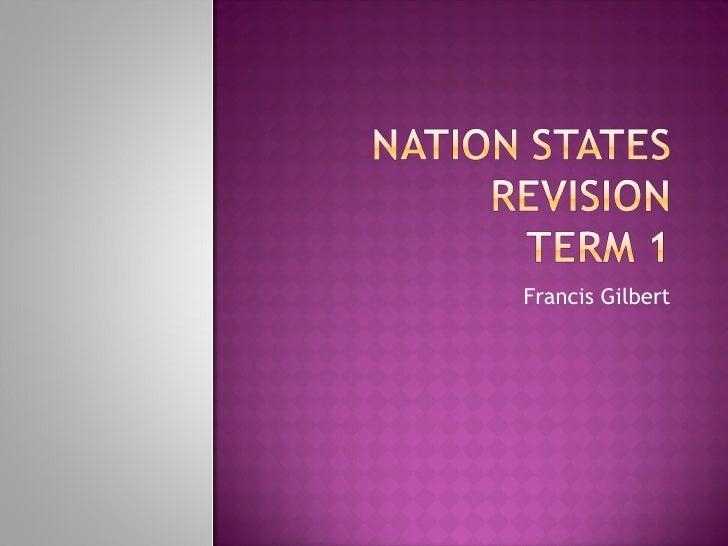 Nation states revision
