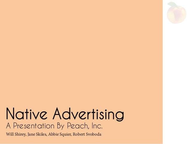 Native Advertising- An Analysis