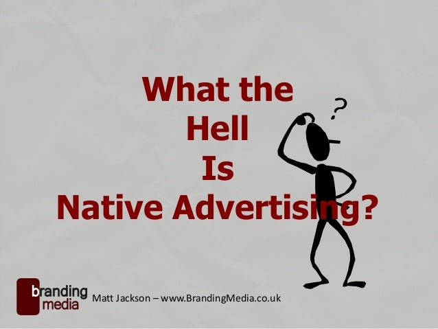Basic Guide To Native Advertising