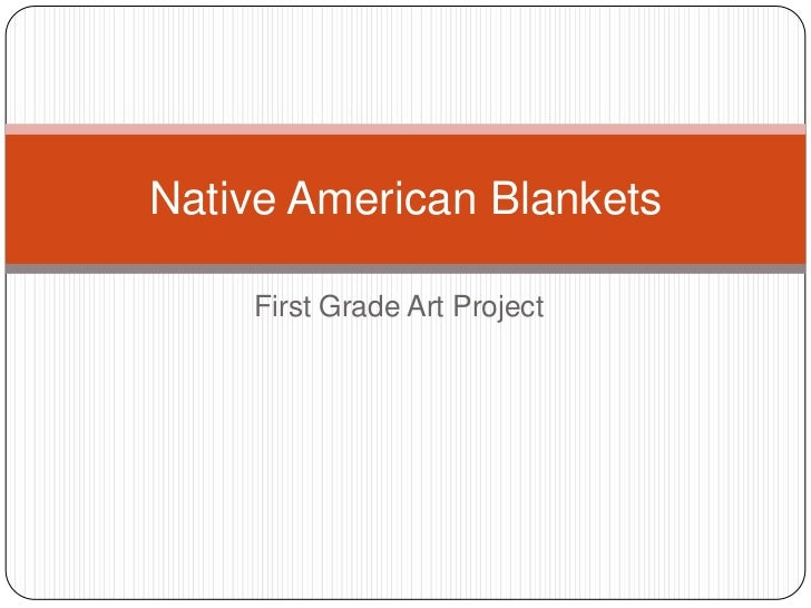 First Grade Art Project<br />Native American Blankets<br />