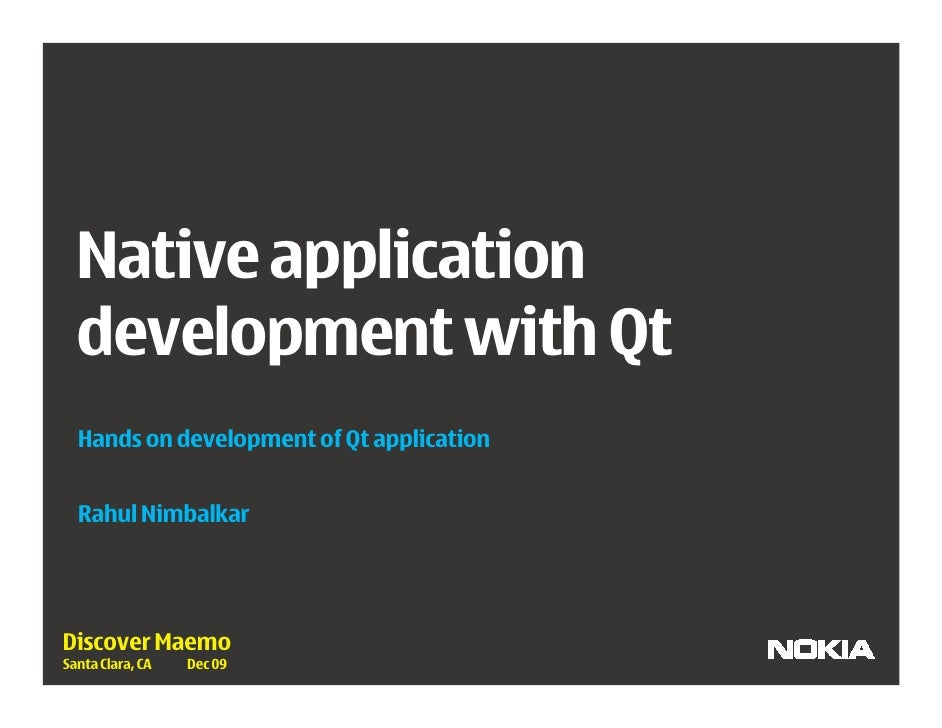 Native Application Development With Qt by Rahul Nimbahlkar