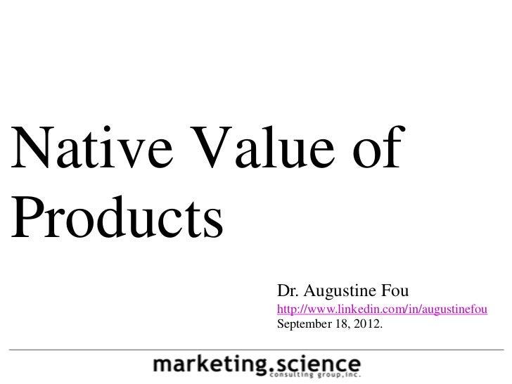 Native value associative value by augustine fou