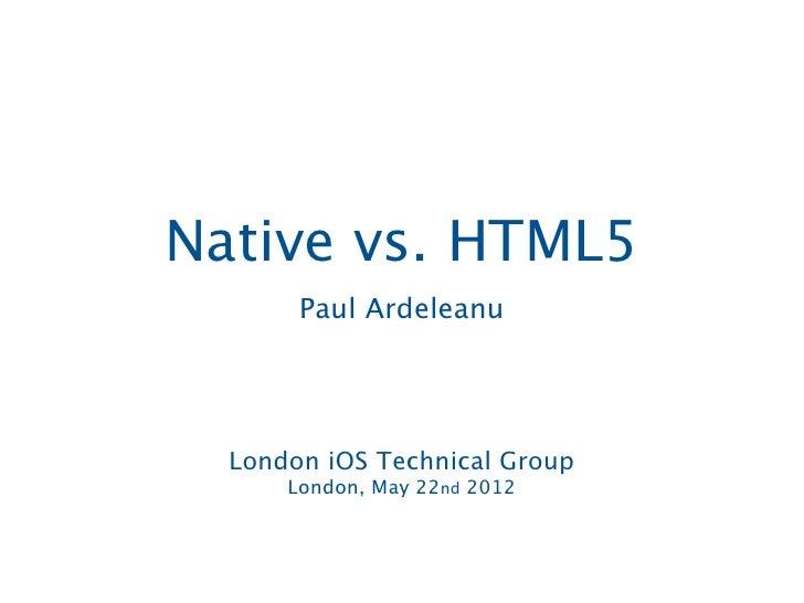 Native vs html5