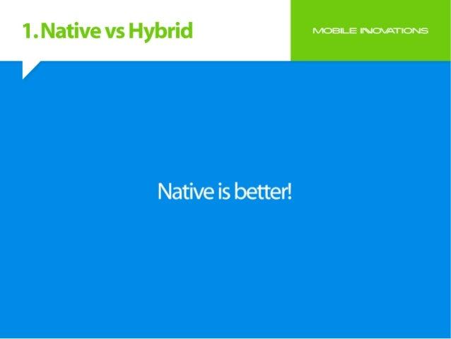 Native vs hybrid