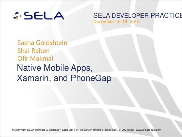 Native Mobile Apps, Xamarin, and PhoneGap