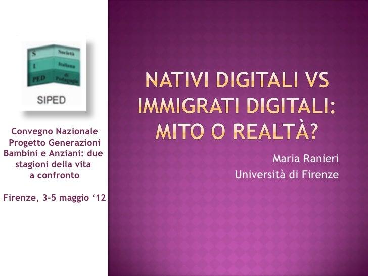 Nativi digitali vs Immigrati digitali: mito o realtà?