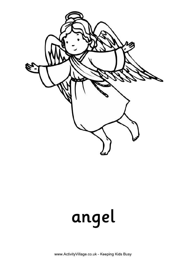 Nativity colouring angel