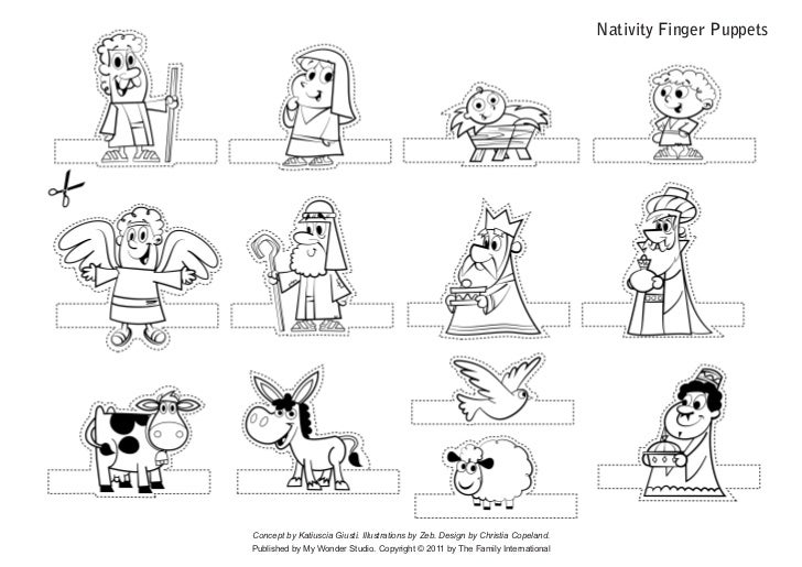 Nativity Finger PuppetsConcept by Katiuscia Giusti. Illustrations by Zeb. Design by Christia Copeland.Published by My Wond...