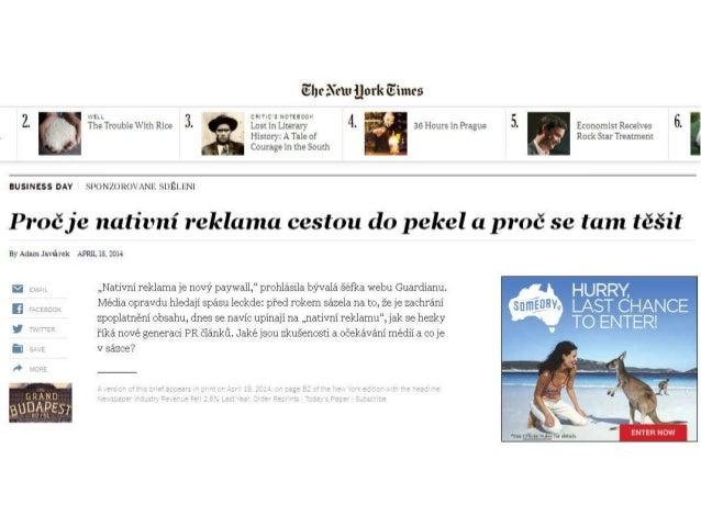 """Vyhledavače In-feed platformy Doporučovače Social Krom """"PR článků"""" se schovává pod nativní reklamu: Ryze nativní prvky"""