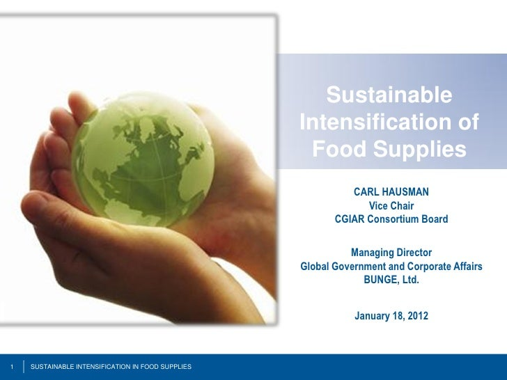 Sustainable                                                   Intensification of                                          ...