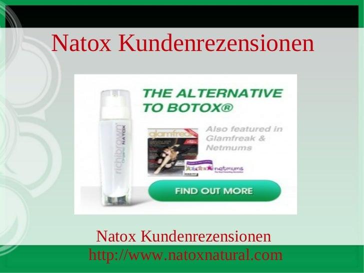 Natox Kundenrezensionen    Natox Kundenrezensionen   http://www.natoxnatural.com