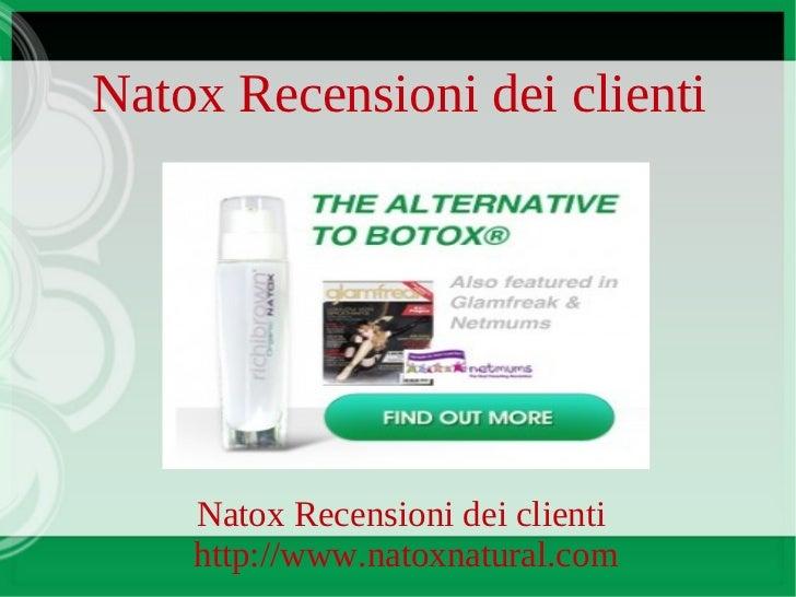 Natox Recensioni dei clienti    Natox Recensioni dei clienti    http://www.natoxnatural.com