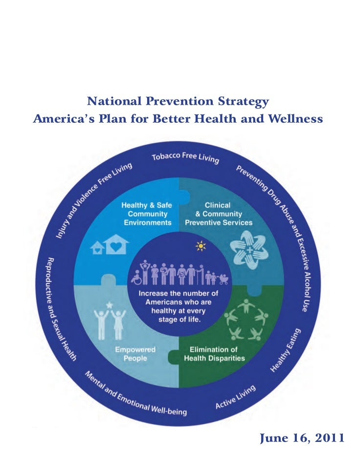 National Prevention StrategyAmerica's Plan for Better Health and Wellness                                   June 16, 2011