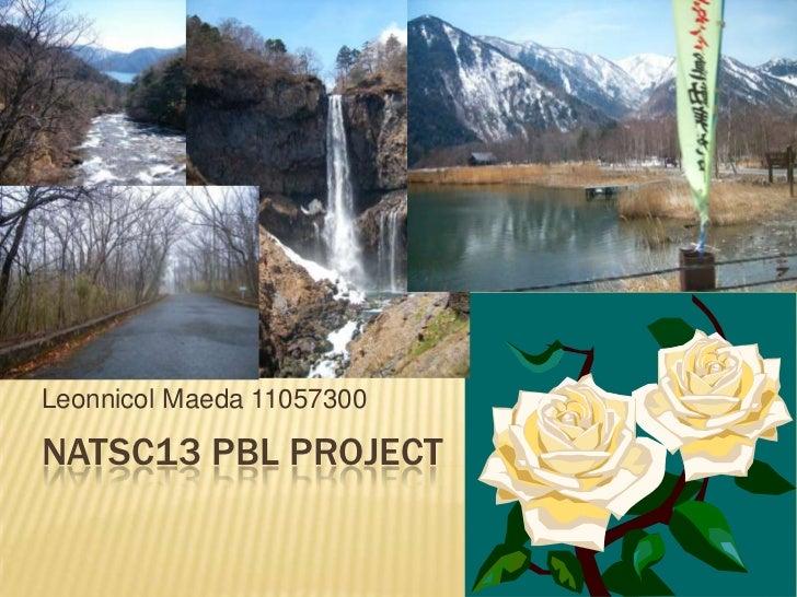 NATSC13 PBL Project<br />Leonnicol Maeda 11057300<br />