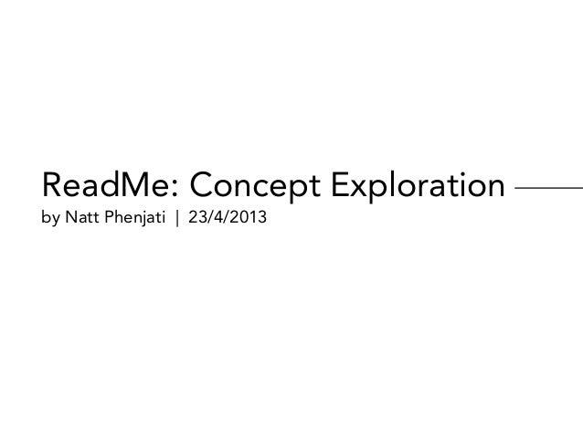 ReadMe: Concept exploration