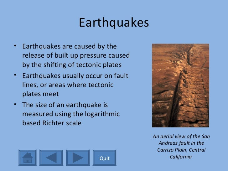 short essay on earthquake