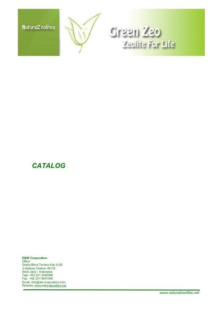 Natural zeolite-product-catalog