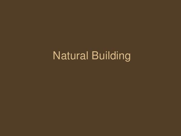 Natural Building<br />