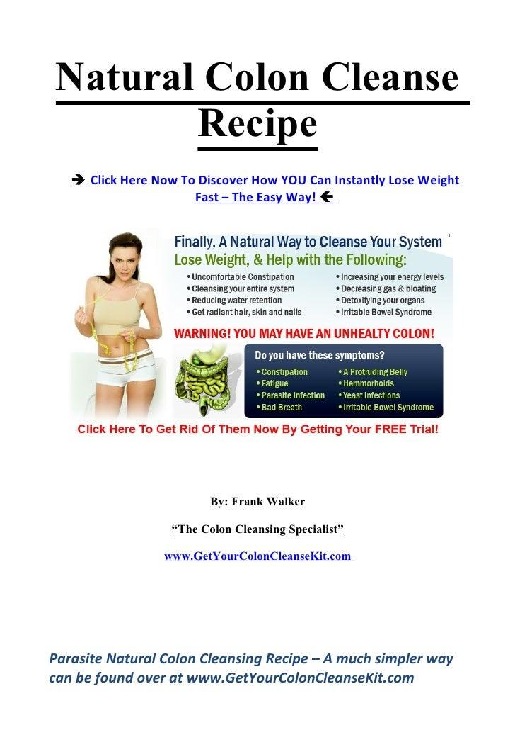 Natural colon cleanse recipe