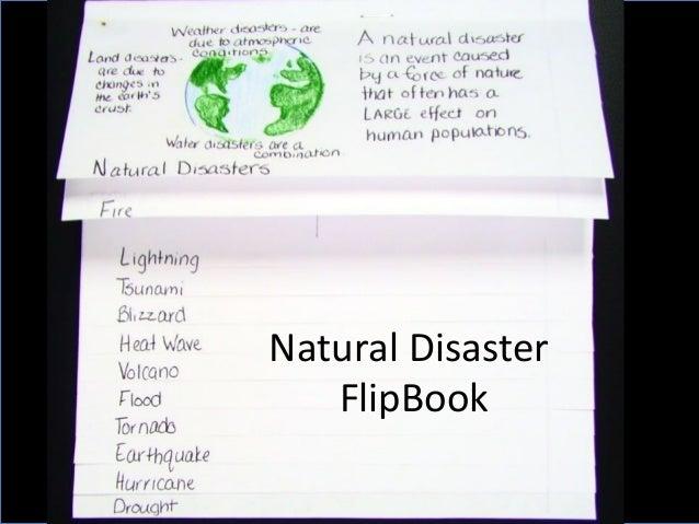 Natural Disaster FlipBook
