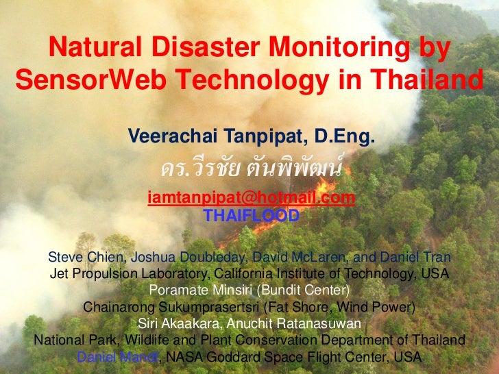 Natural disaster monitoring by sensor web technology in thailand v2