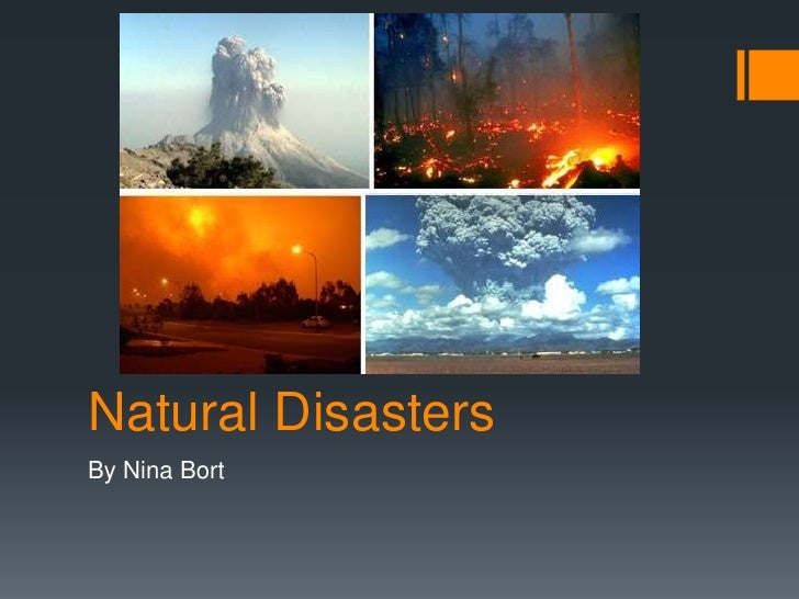 Natural hazards and disasters ppt