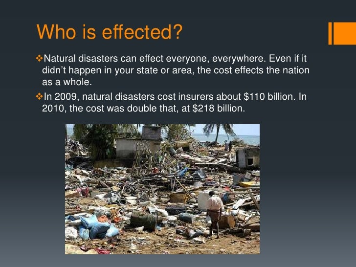 essay of natural disaster