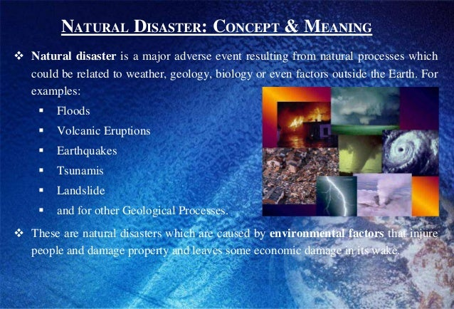 Natural Disasters Definition Biology