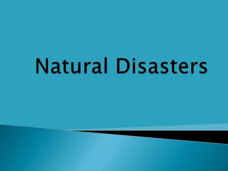 Natural disasters ellen meinecke