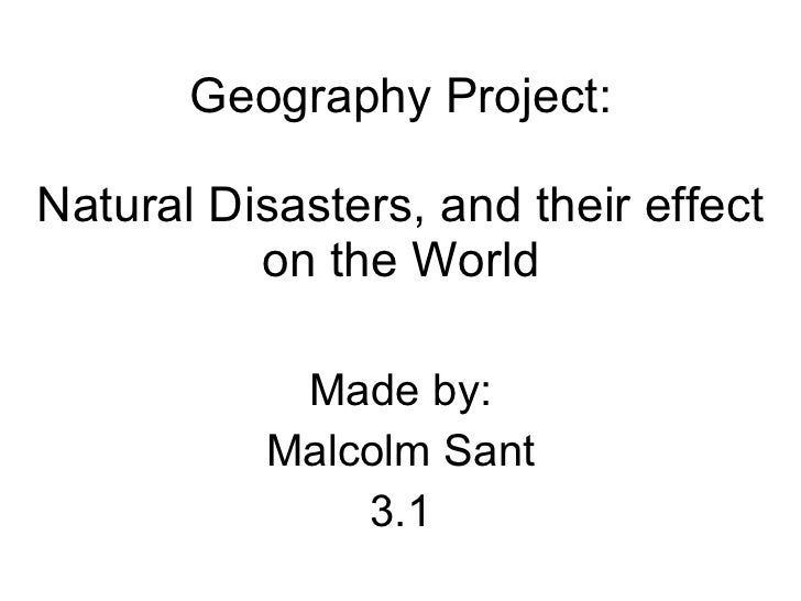 Natural disasters by Malcolm Sant, 3.01