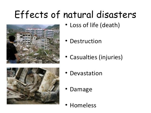 Impacts of human activities on natural hazards