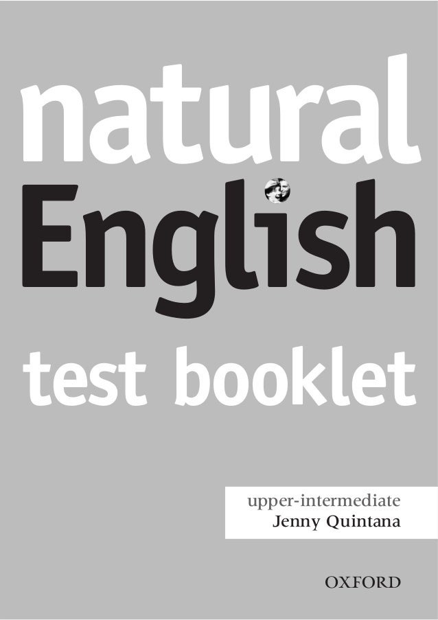 Natural english test booklet