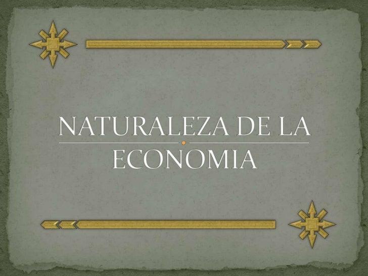 NATURALEZA DE LA ECONOMIA <br />